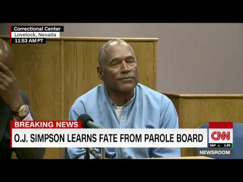 BREAKING NEWS!!! O.J. Simpson wins parole after serving nine years